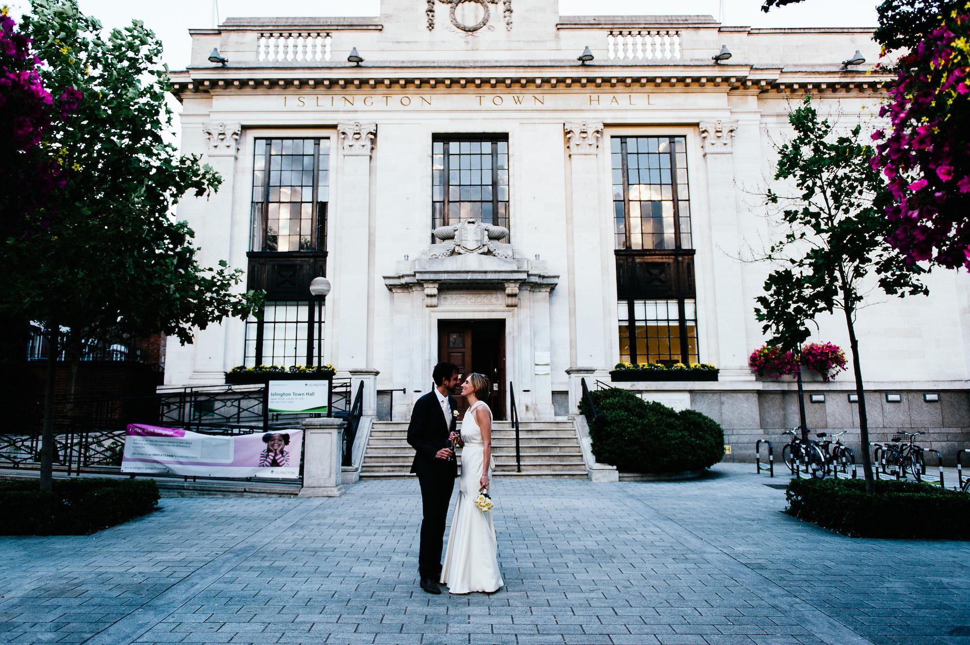 Wedding at Islington Town Hall in London