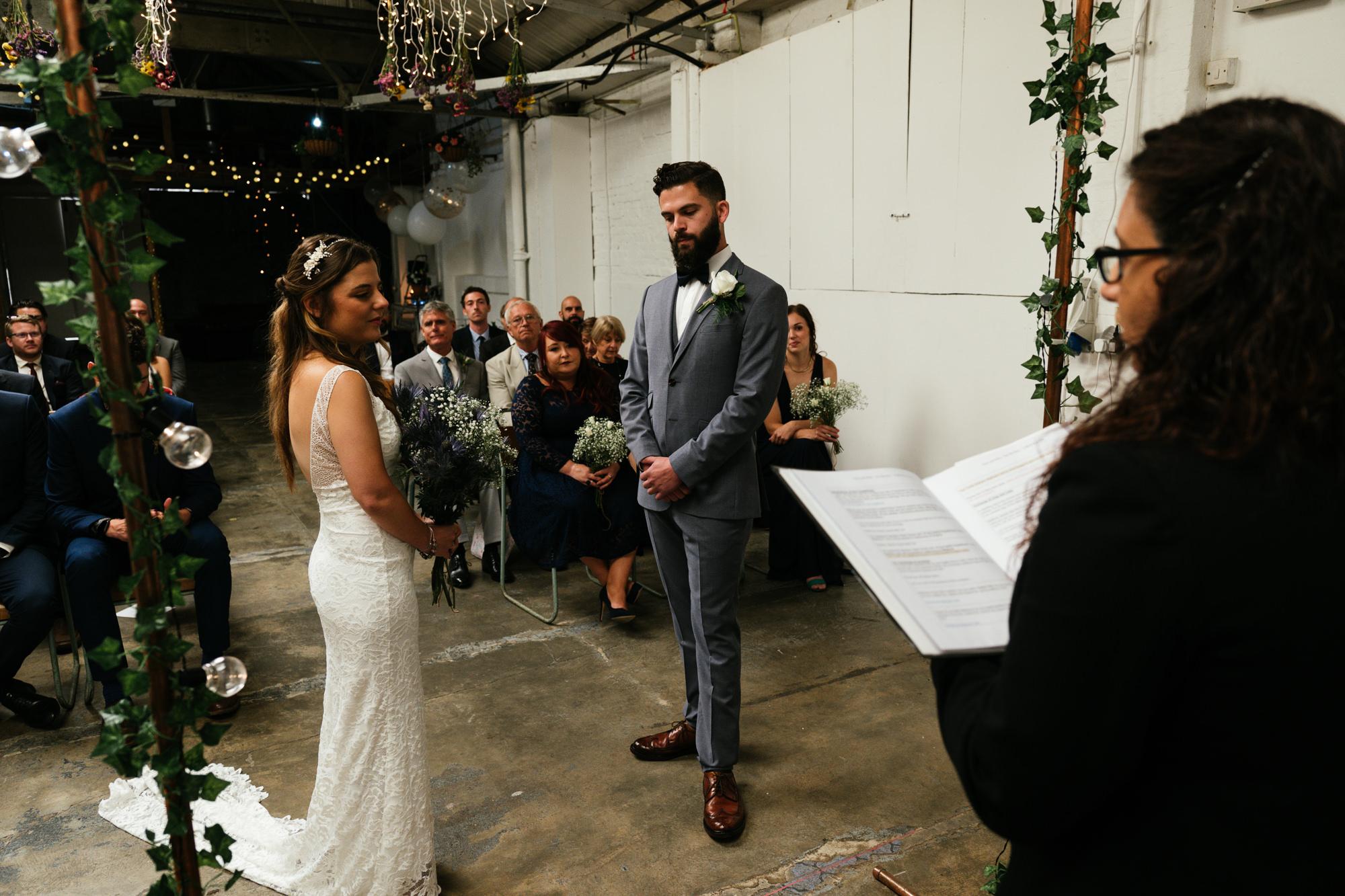 old dairy wedding