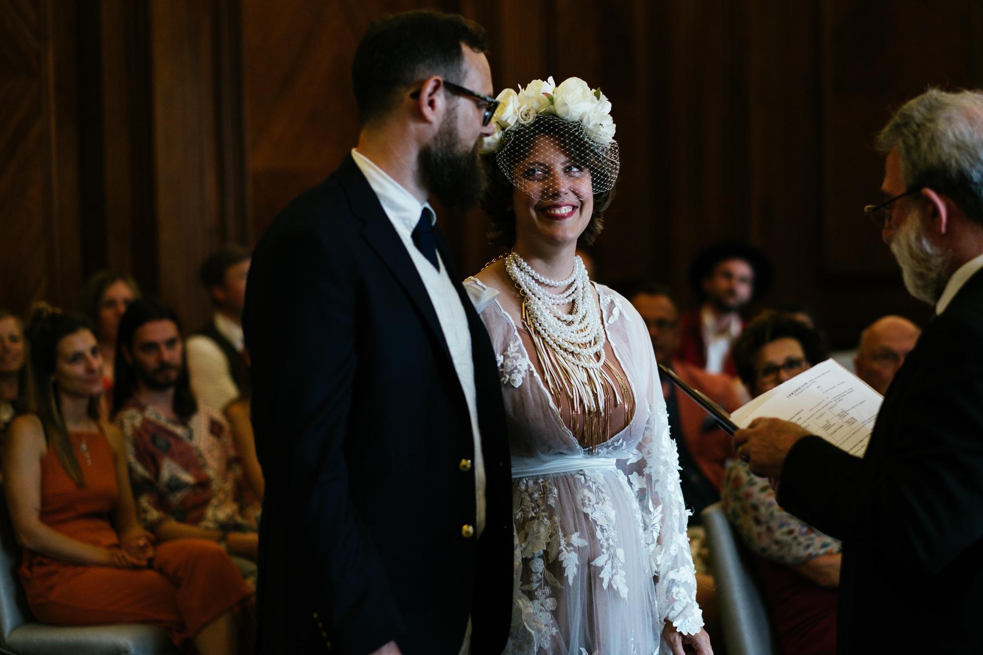 wedding at Marylebone Town Hall